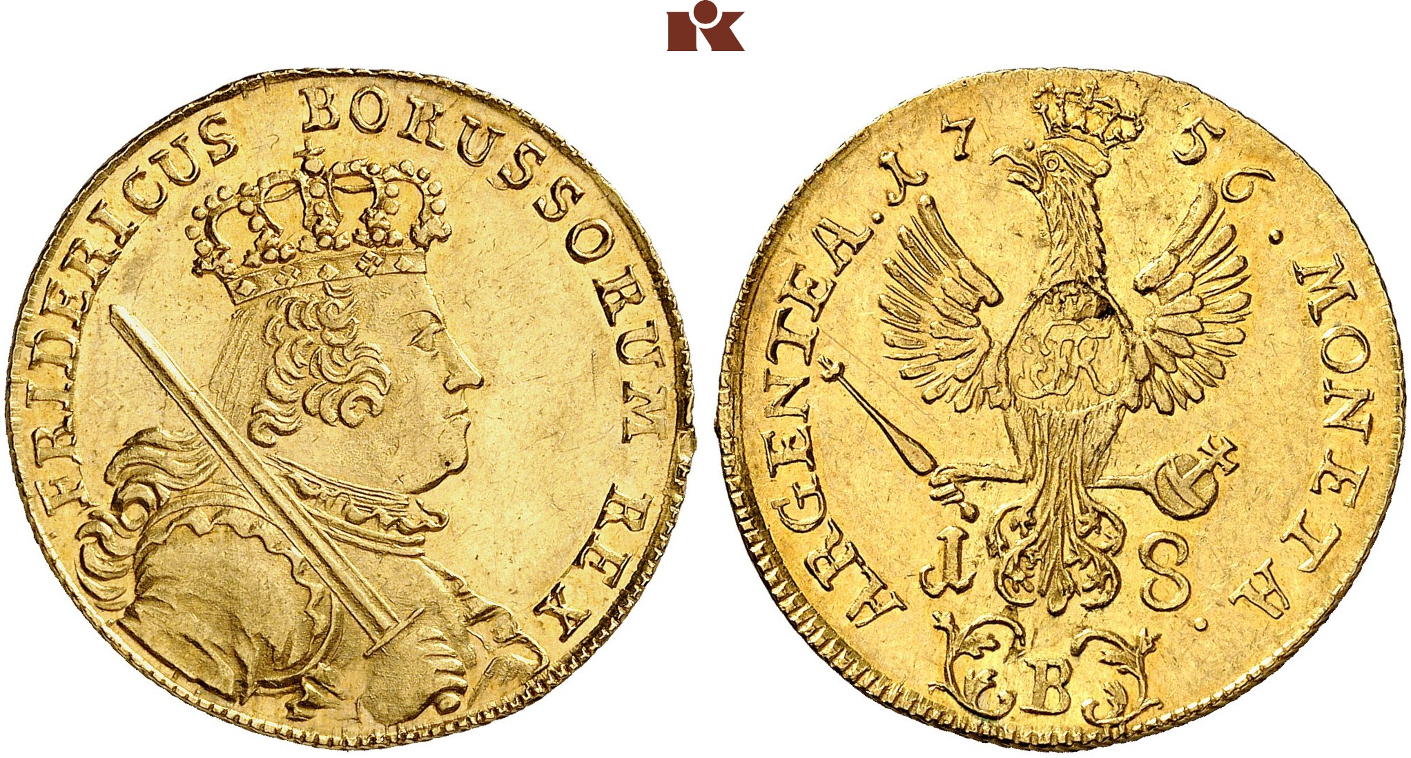 Friedrich Ii Der Große 1740 1786 Goldabschlag Von Den Stempeln