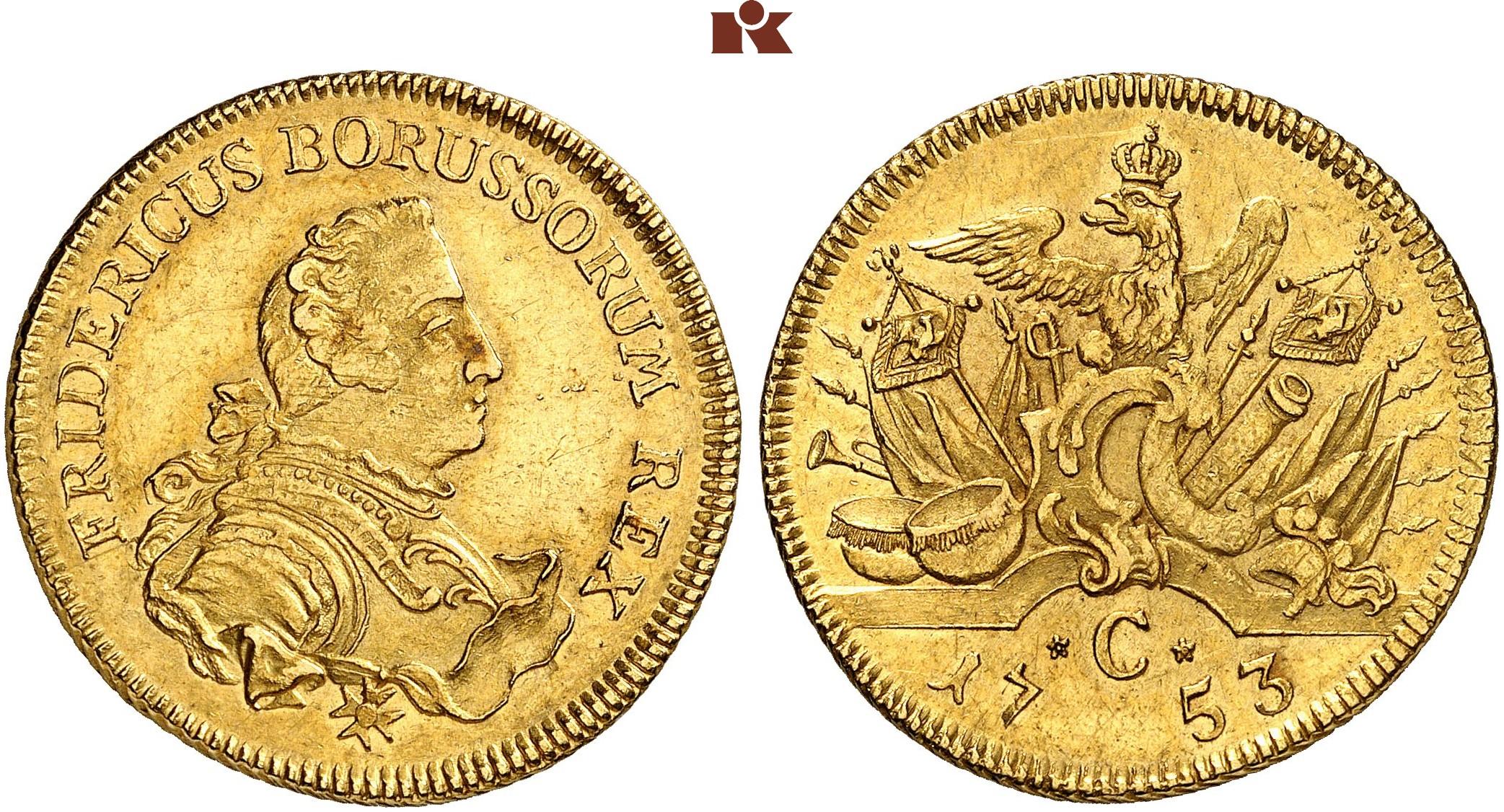 Friedrich Ii Der Große 1740 1786 Doppelter Friedrichs Dor 1753