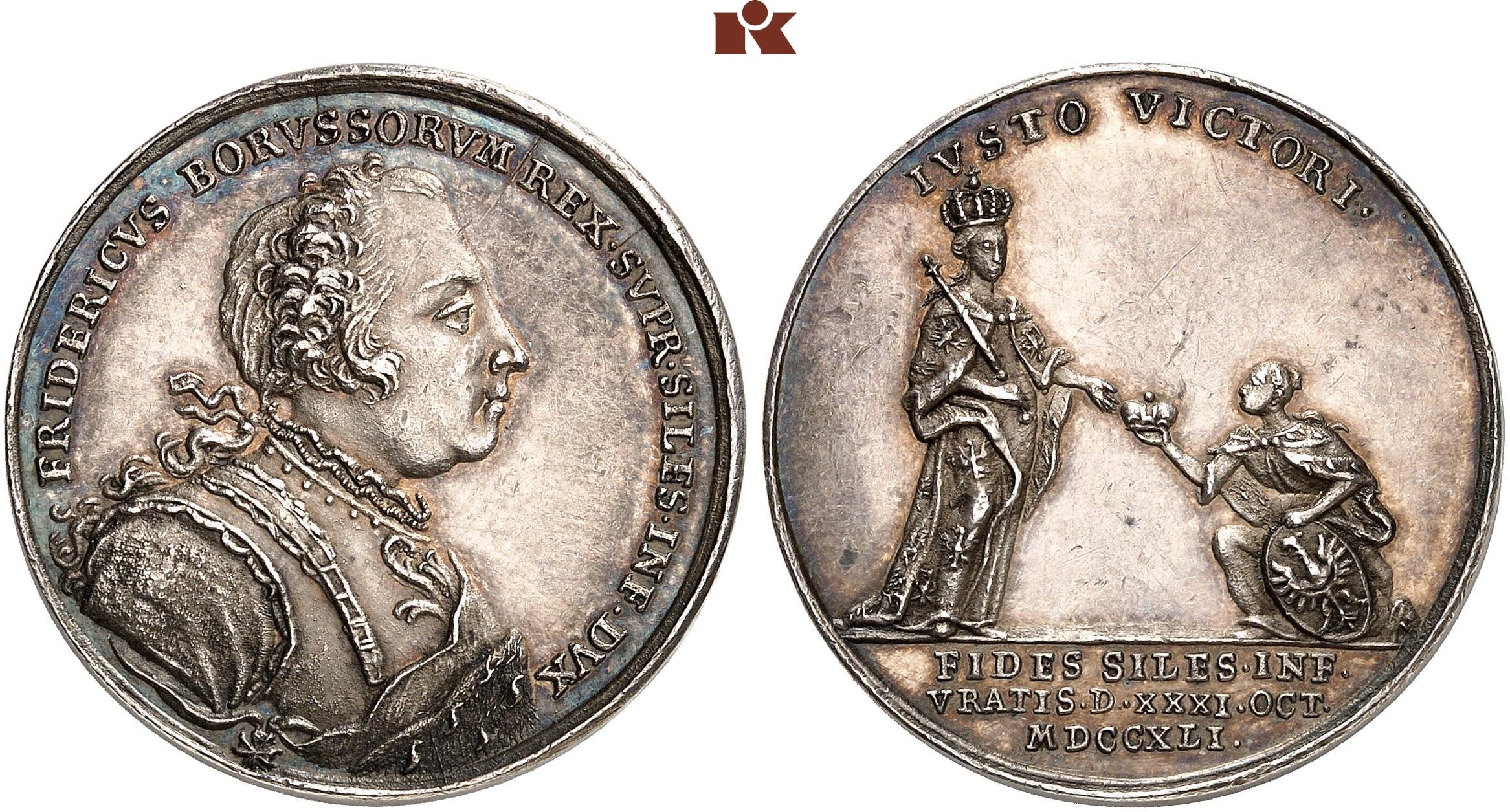1740-1786 Auf Seinen Tod 1786 Silber Königreich Preussen Friedrich Ii