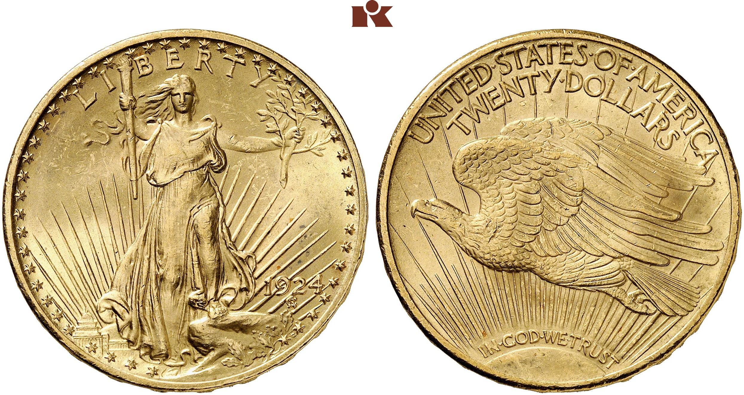 Föderation 20 Dollars 1924 Philadelphia Fb 185