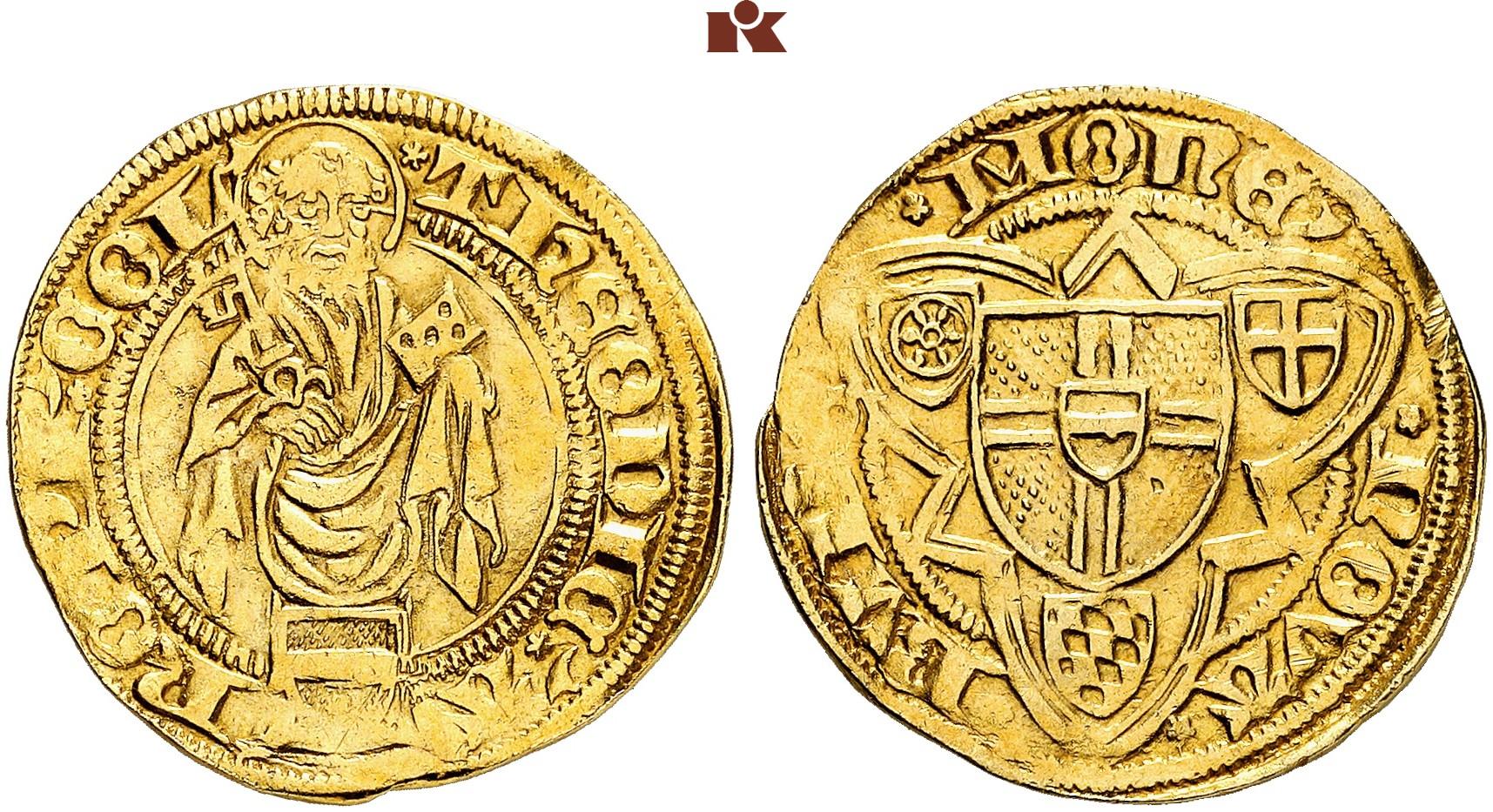 Dietrich Ii Von Moers 1414 1463 Goldgulden O J 1423 Bonn 3