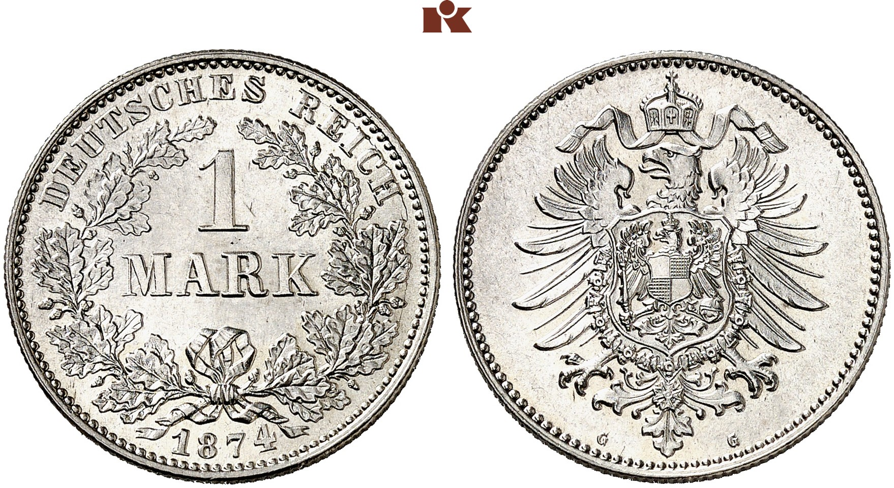 1 Mark 1874 G J 9