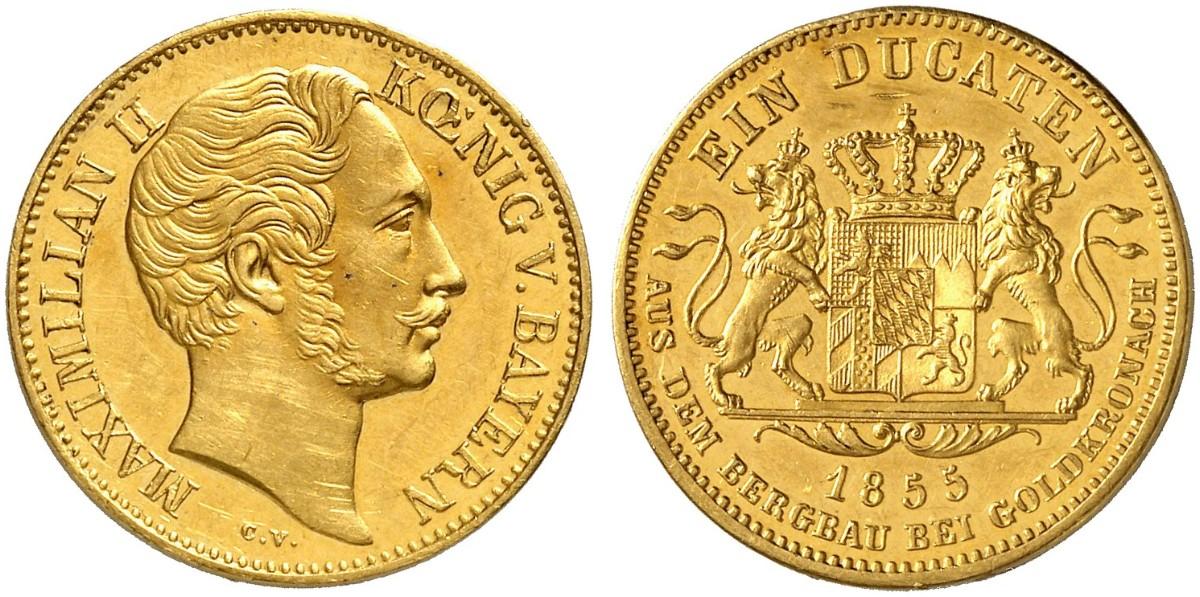 Maximilian Ii 1848 1864 Dukat 1855 Divos 36 Dort Ungenaue