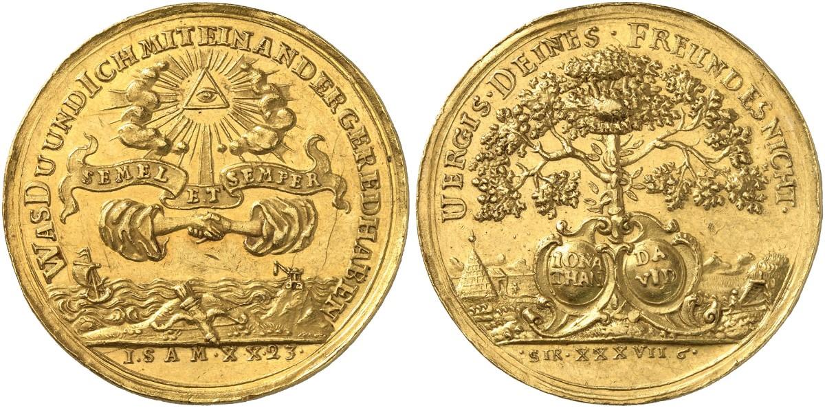 Goldmedaille Zu 10 Dukaten O J Ende Des 17 Jahrhunderts F U