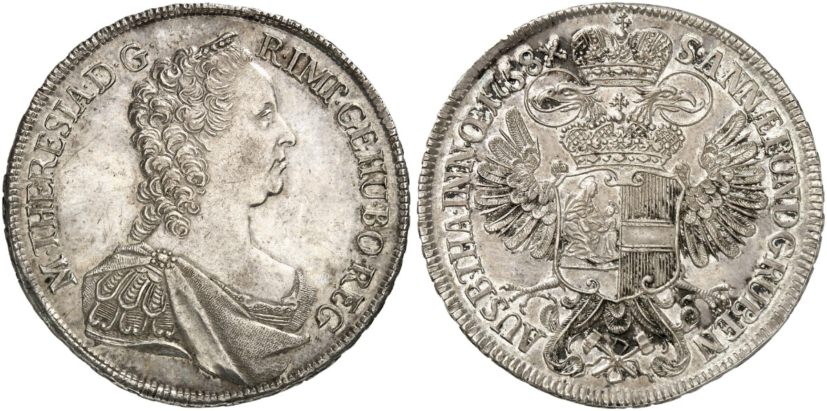 Maria Theresia 1740 1780 Konv Taler 1758 Wien Dav 1113