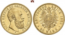 Georg II., 1866-1914. 20 Mark 1882. J. 276.