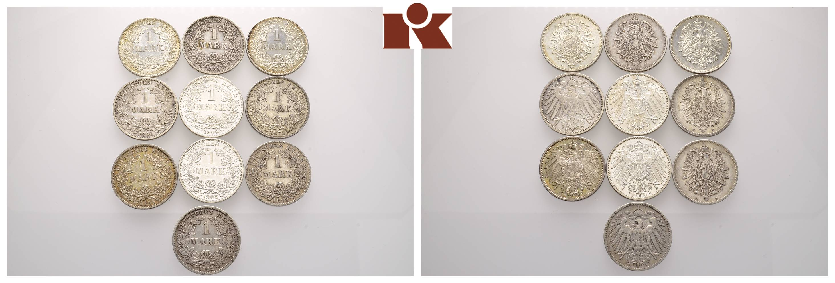 1 Mark 1873 D 1 Mark 1874 E 1 Mark 1875 F 1 Mark 1880 D 1 Mark
