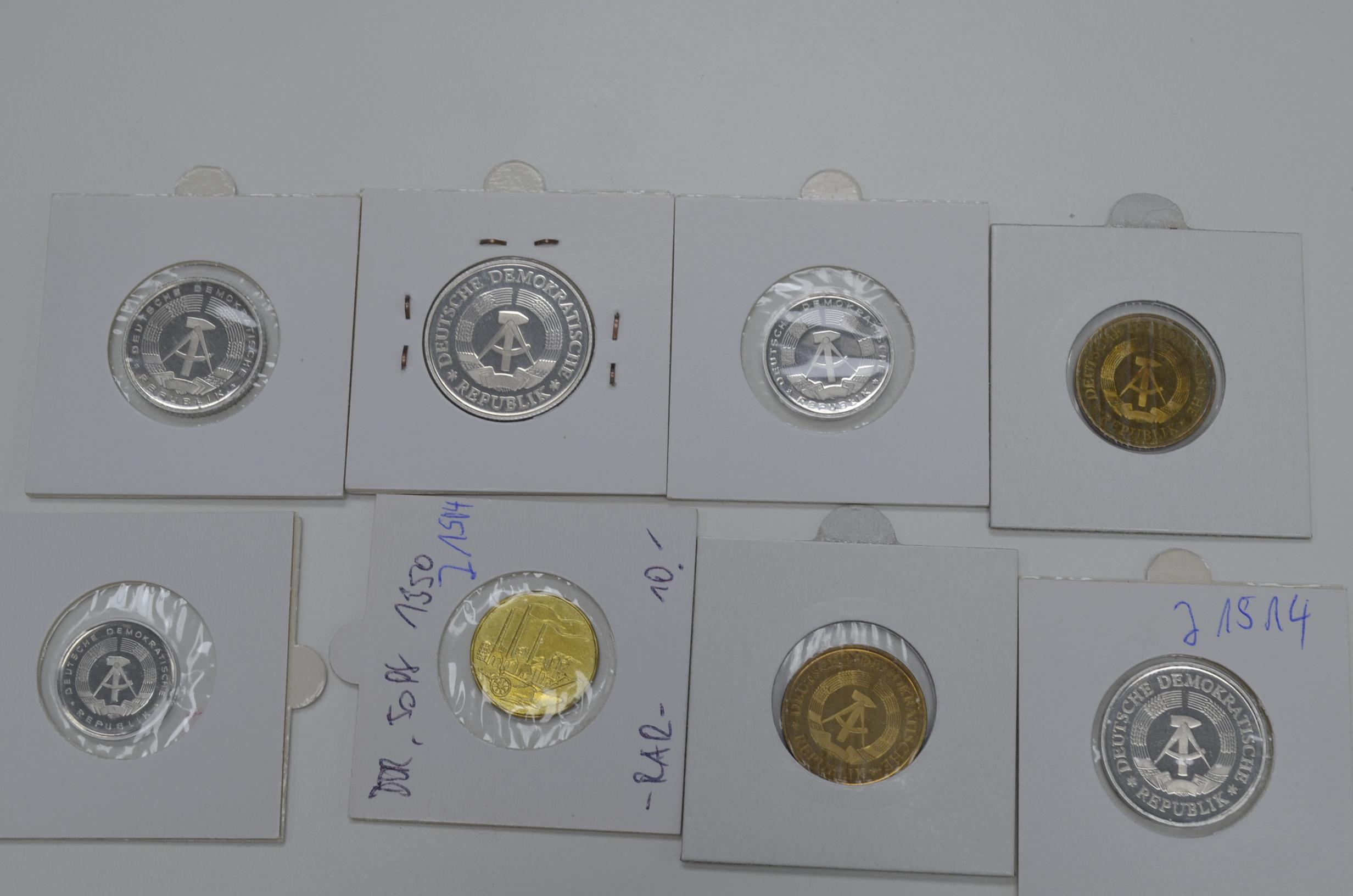 Diverse Kleinmünzen Der Ddr J 1504 50 Pfennig 1950 Stgl J