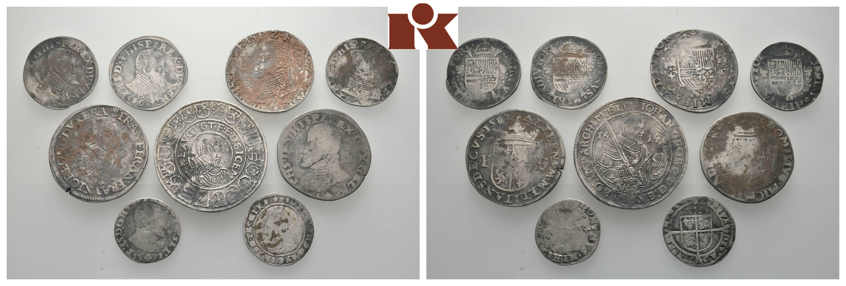 Serie Von Münzen Des 16 Und 17 Jahrhunderts überwiegend Der