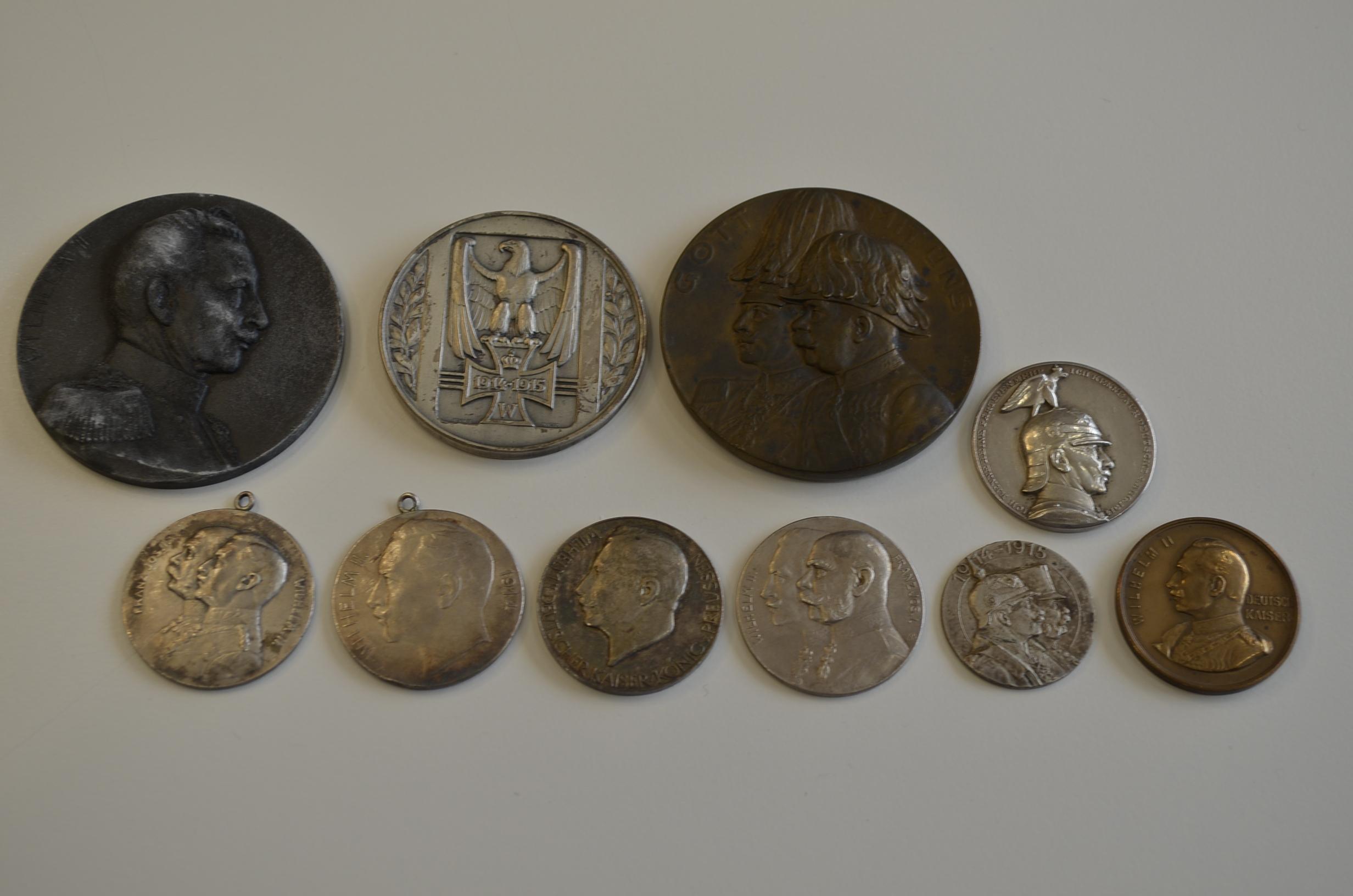 Kleine Serie Von Medaillen 2x Silber Der Rest Unedel Auf Kaiser
