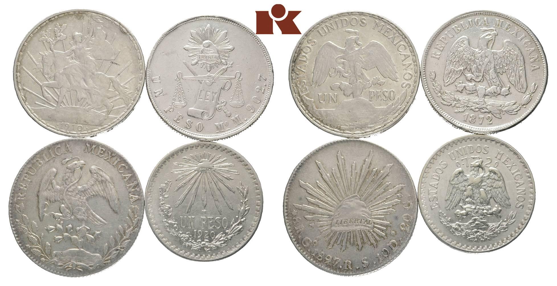 1 Peso 1872 Mo-M, Mexico City (K /M  408 5)