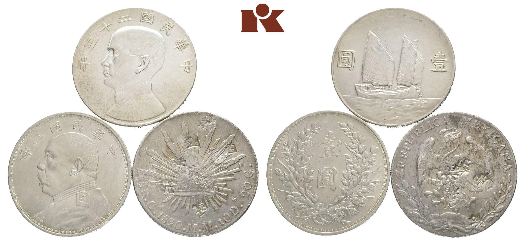 Kleines Konvolut Von Chinesischen Münzen Des 20 Jahrhunderts