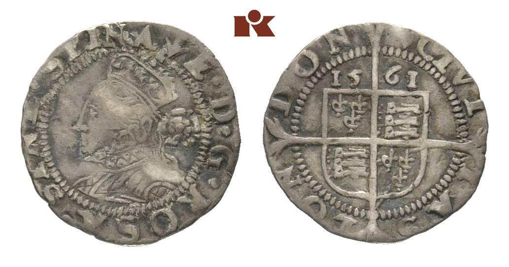 Elizabeth I 1558 1603 1 12 Pence 3 Halfpence 1561 London