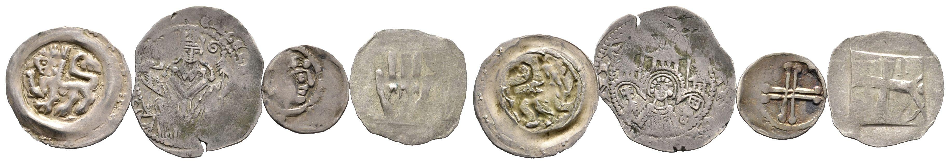 Kleines Konvolut Von Vier Mittelalterlichen Münzen Ein
