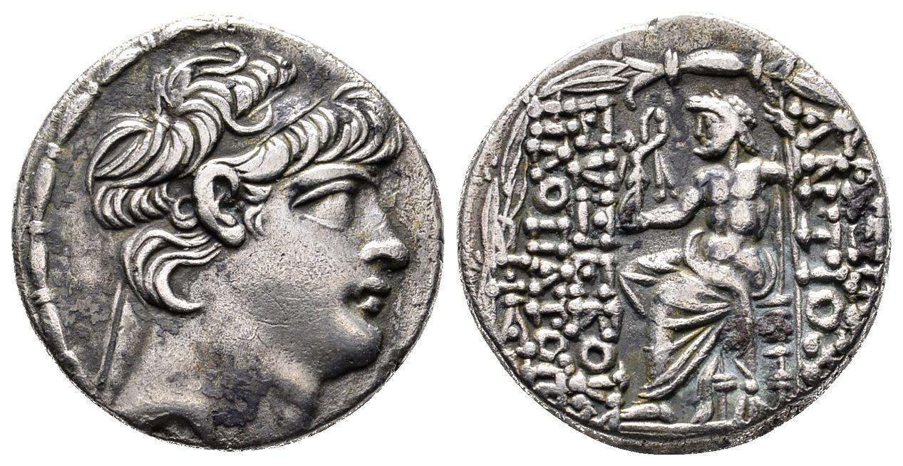 Antiochos X , 94-92 v  Chr  AR-Tetradrachme, 94 v  Chr